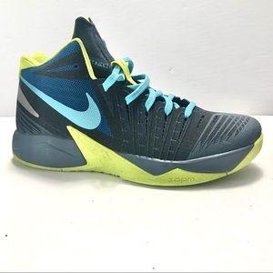 Nike Zoom I Get Buckets Blue Green Silver Sneakers